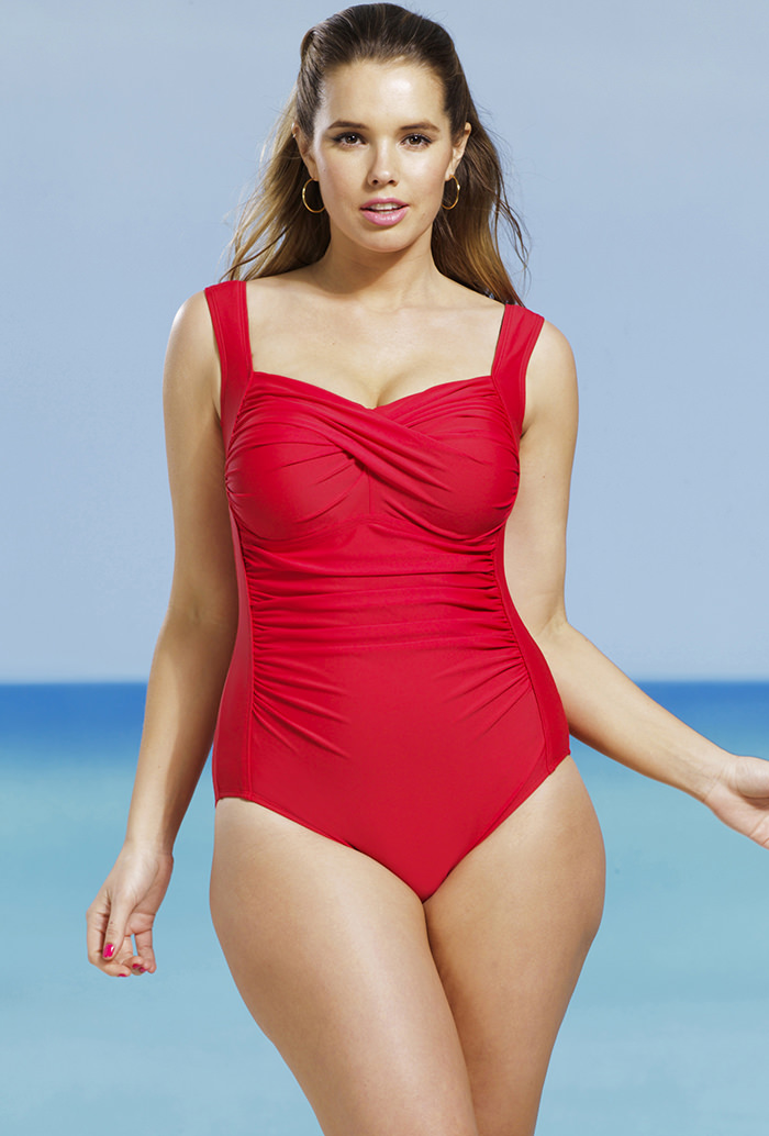 db7cd704b1c16 Delta burke red twist front swimsuit jpg 700x1034 Empire style delta burke  swimsuits