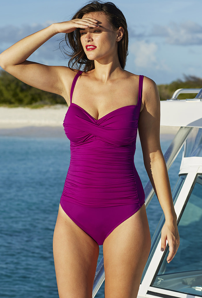 c2f8eab8d219d La Blanca Plum Sweetheart One Piece. 124.00   30.98  . Sale!