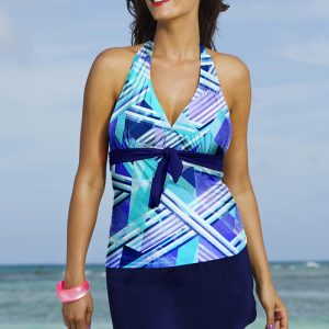 24aae83bb9c6f Shore Club Indigo Plaid Tie Front Slit Skirtini. 64.00  . Buy Now · Halter Plus  Size Swimwear ...