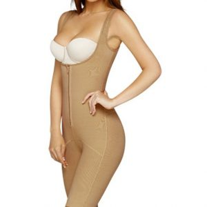 adc8113208 Amazing Shape Open-Bust Mid-Thigh Compression Bodysuit by Leonisa 018688- Nude-S