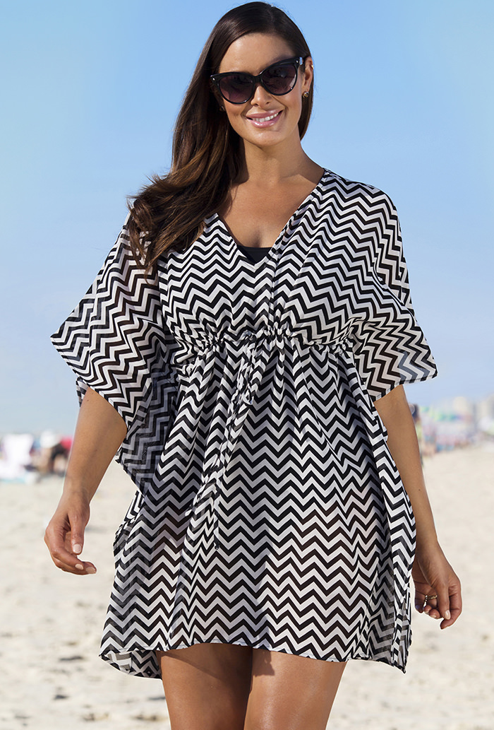 d35b562507f Black Chevron Stripe Cover Up