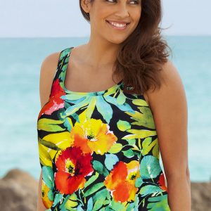 a7d22b2ca8e42 Beach Belle Botany Bay Plus Size Blouson Tankini Top. 42.00   19.98  . Sale!