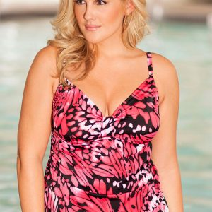 8187df8c888aa Shore Club Butterfly Tab Front Tankini Top
