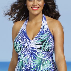 24e6521ce18ea ... Shore Club Plus Size Maile Tankini Top ...