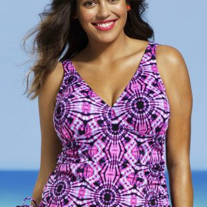 fe9910e9d3fb0 ... Shore Club Plus Size Woodstock Side Tie Tankini Top ...