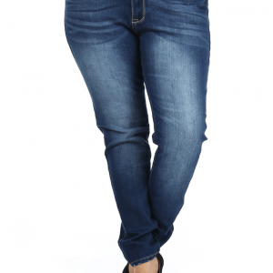 581179149 Plus Size Just Right Faded Navy Blue Denim Skinny Jeans